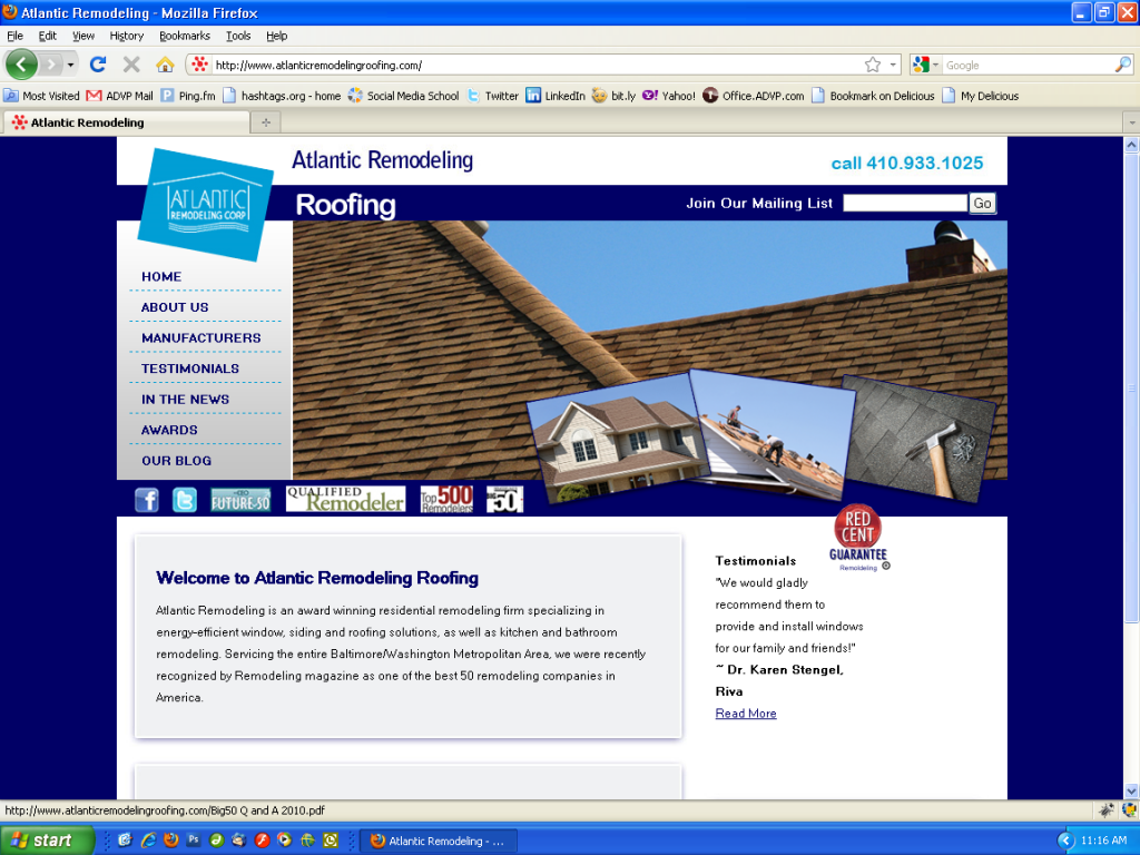 Atlantic Remodeling Inspiration Atlantic Remodeling Roofing Siding And Windows  Adventure Web . Inspiration Design