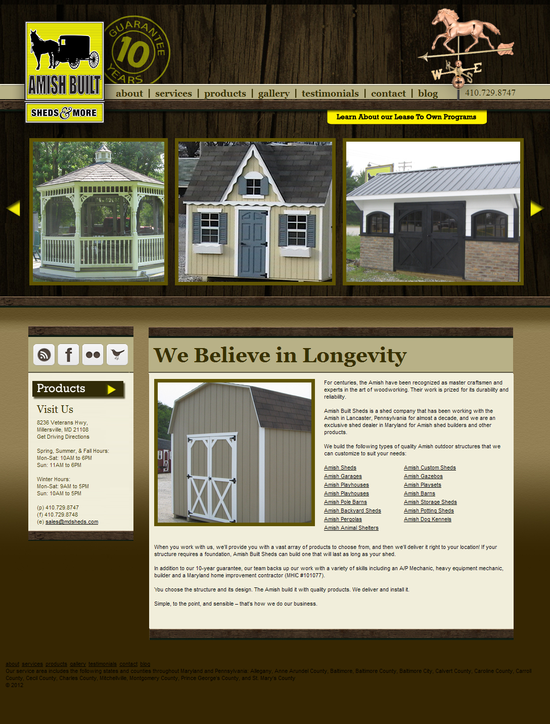 Adventure Web Productions has recently launched Amish Built Sheds & More 's new live site!