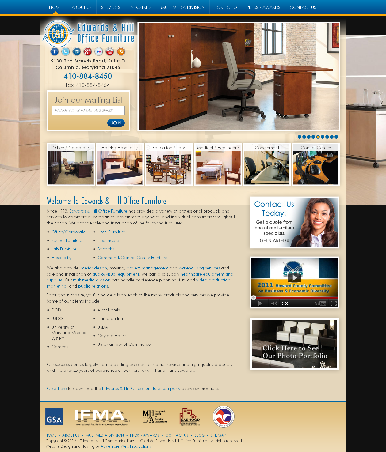 Adventure Web Productions has recently launched Edwards & Hill Office Furniture's new live site!