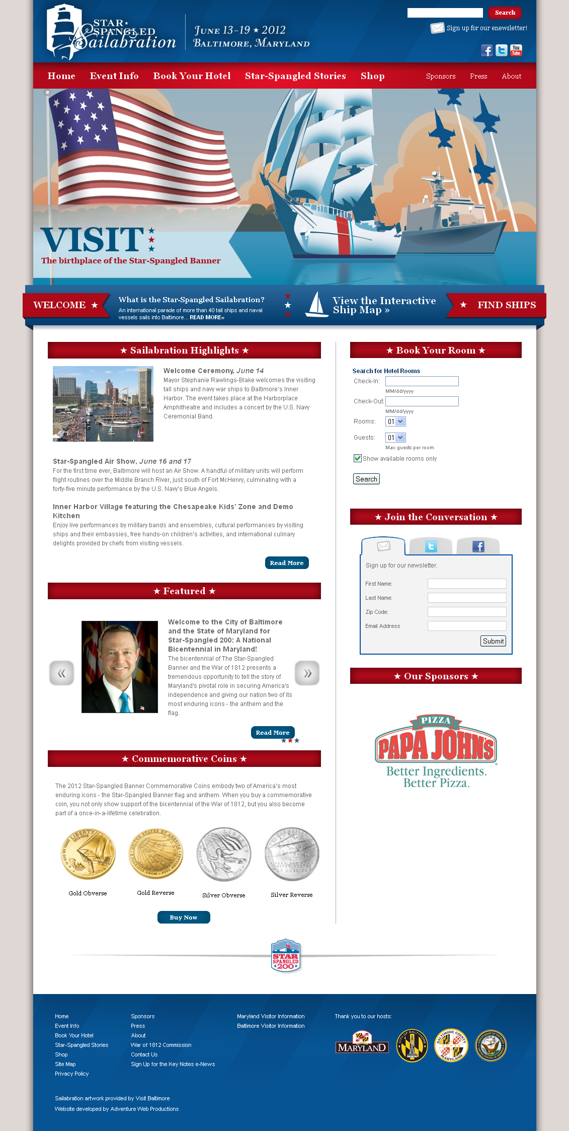 Adventure Web Productions Has Recently Launched Star Spangled Sailabration's New Company Website!