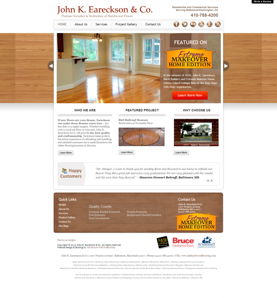 Adventure Web Productions has recently launched John K. Eareckson & Co.'s new website!