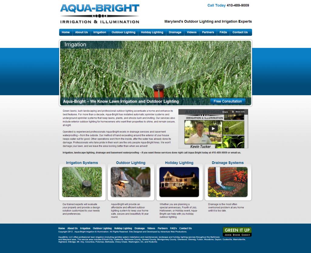 Adventure Web Productions has launched Aqua-Bright!