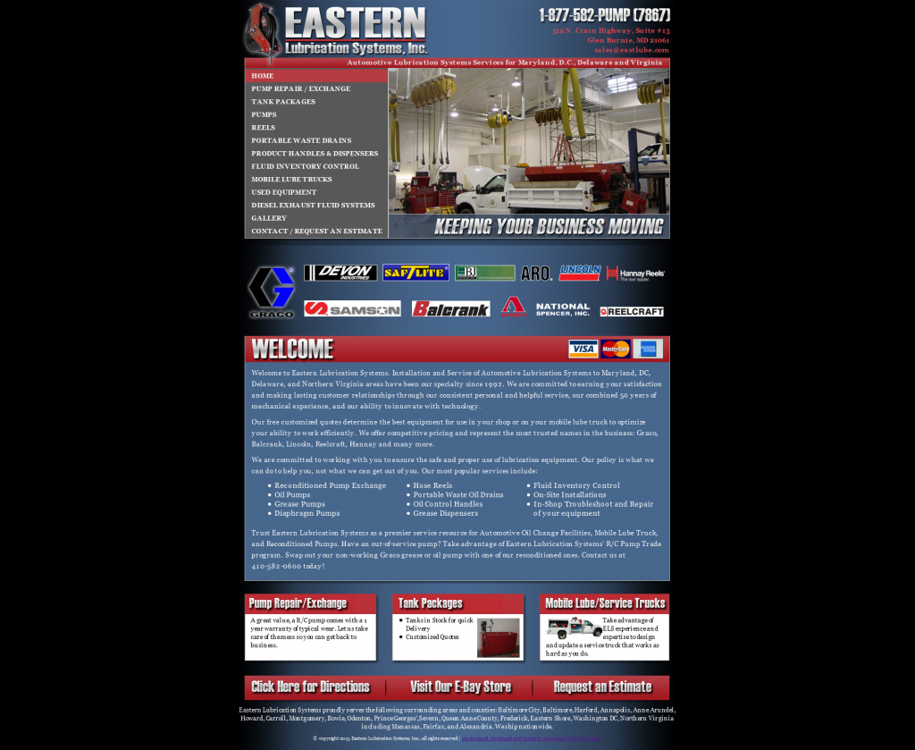 Eastern Lubrication Systems, Inc.