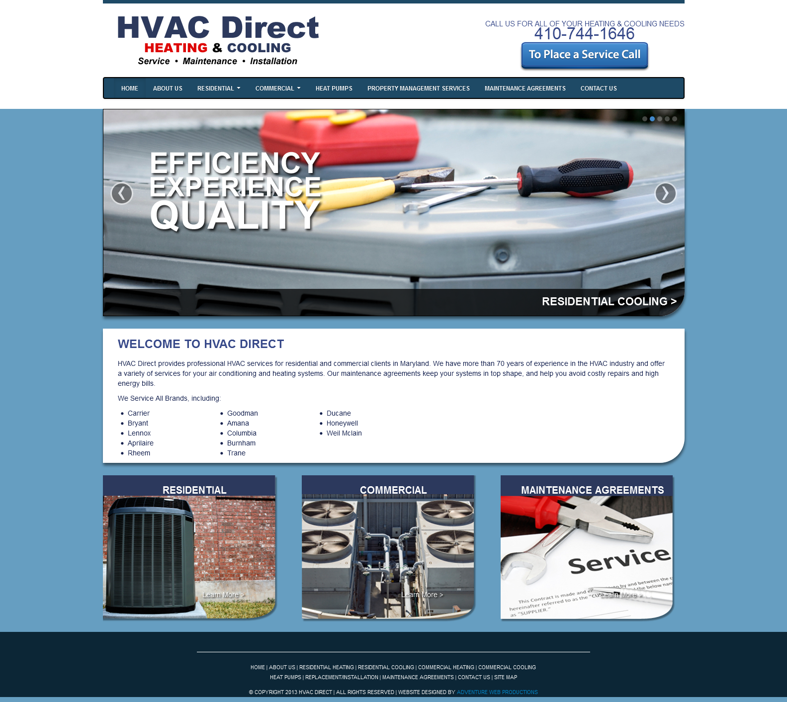 Adventure Web Productions Launches New Site: HVAC Direct | Adventure ...