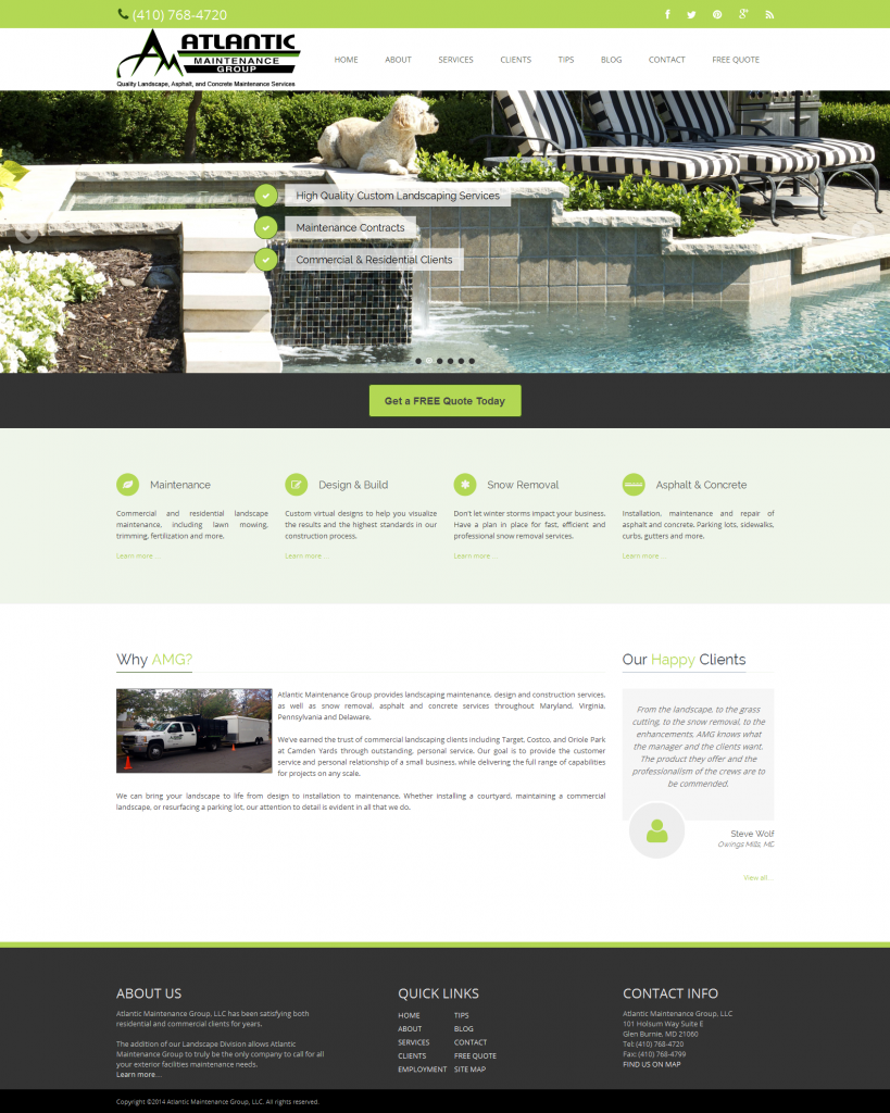 landscaping services in Baltimore