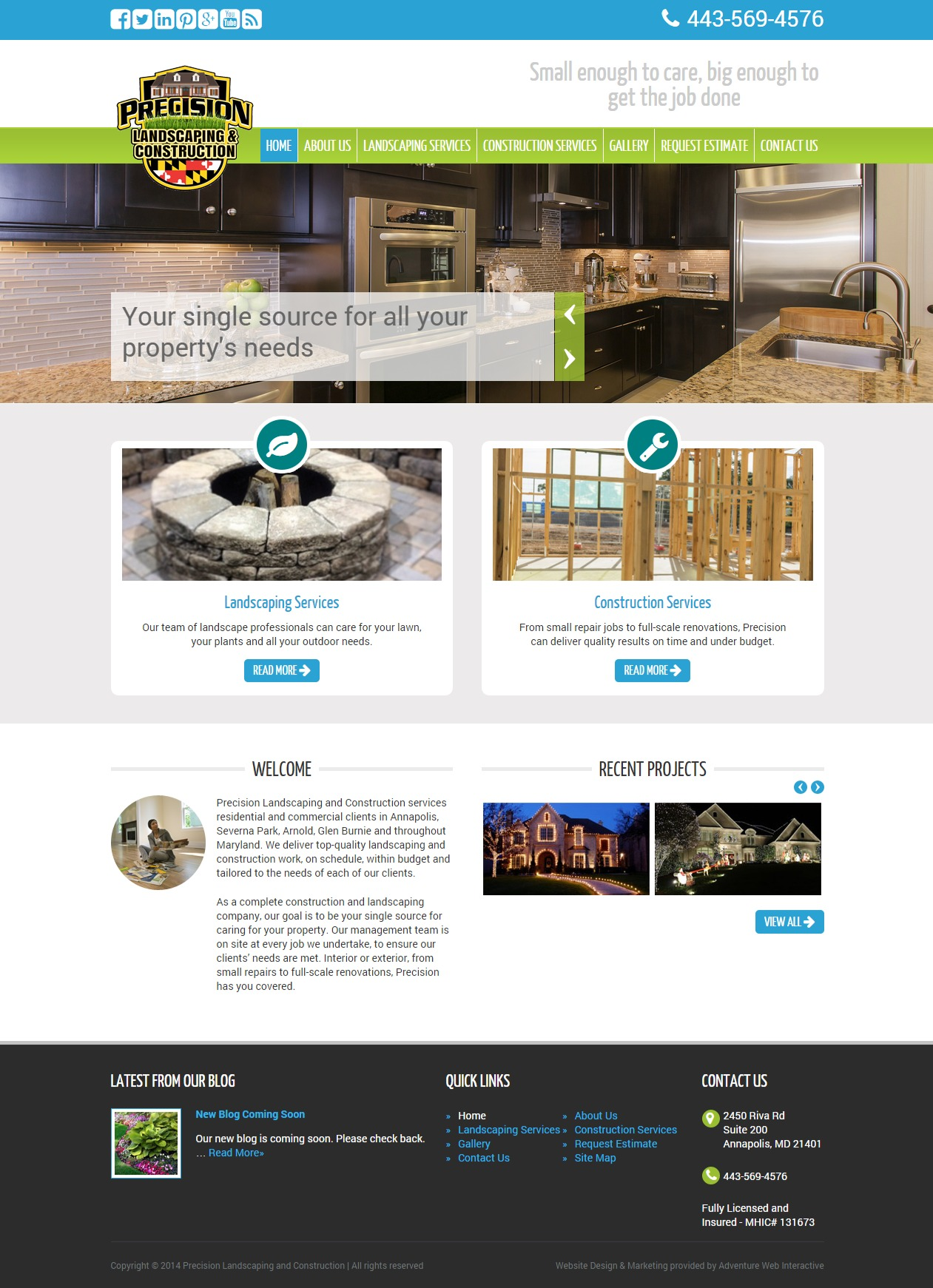 Adventure Web Launches New Site Precision Landscaping
