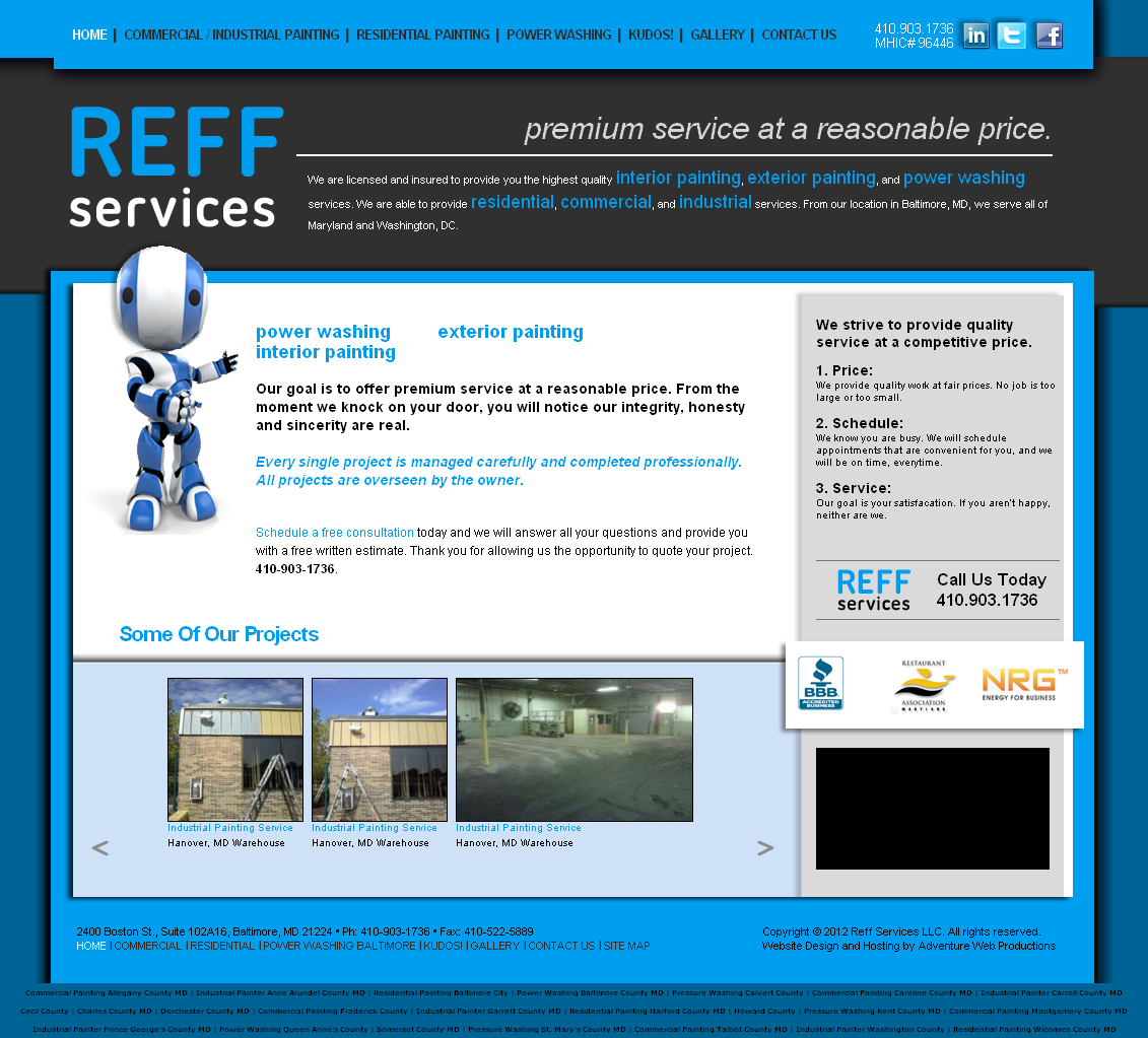 Adventure Web Productions has recently launched Reff Services' new live site!